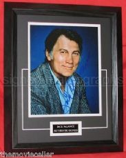 JACK PALANCE SIGNED FRAMED AND DOUBLE MATTED AUTHENTIC PHOTO NOT COPY OR PRINTED